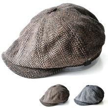 Ośmioboczna czapka gazeciarz Beret kapelusz jesień i czapki zimowe dla mężczyzn Jason Statham modele męskie berety tanie tanio COTTON Dzieci Unisex Na co dzień Plaid BL062 TUNICA