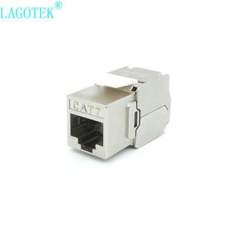 12/24pcs RJ45 Keystone Cat7 Cat6A Shielded FTP Zinc Alloy Module Network Keystone Jack Connector Adapter 10GB Network 1