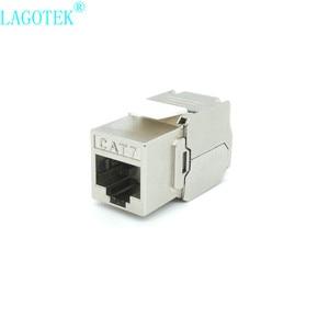 Image 4 - 12/24Pcs RJ45 Keystone Cat7 Cat6A Afgeschermde Ftp Zinklegering Module Netwerk Keystone Jack Connector Adapter 10Gb netwerk
