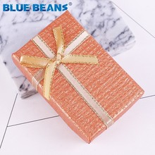 6 color gift box Floral Necklace Earrings Ring Box Engagement Bracelet Display Gift Box 8 5cm Navy blue Jewellery Organizer new