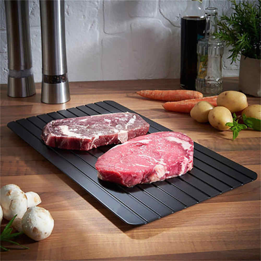 Descongelar Alimentos Congelados de Carne de Frutas Placa Bandeja de degelo Rápido Degelo Placa Pad Silicone Cozinha Gadget Ferramenta Carne