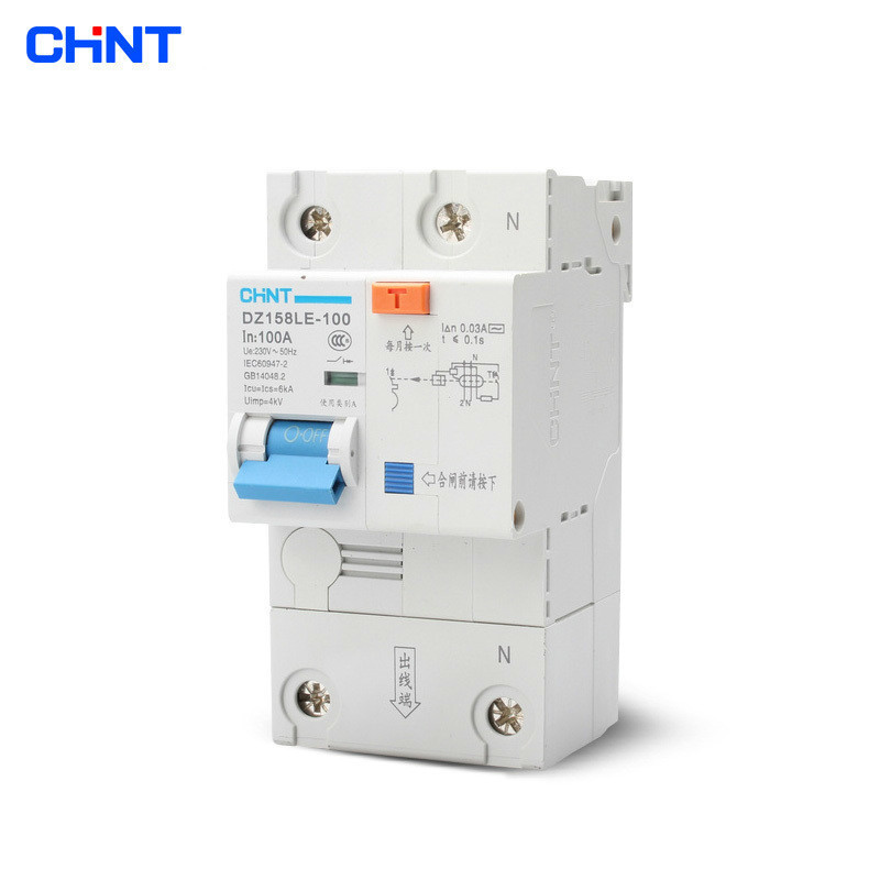 CHINT High Power Home With Leakage Circuit Breaker DZ158LE 1P + N 100A Air Switch Residual Current Protection Circuit BreakerCHINT High Power Home With Leakage Circuit Breaker DZ158LE 1P + N 100A Air Switch Residual Current Protection Circuit Breaker