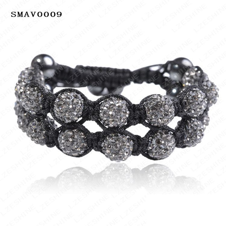 рождество стимулирование сбыта новый стиль шамбалы браслеты с двойным рядом хрустальный шар smavmix1