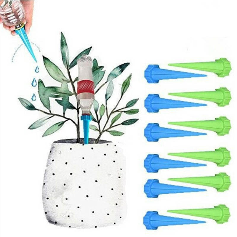 4 Pcs 4 Installed Automatic Watering Garden Supplies Irrigation Kits System Houseplant Spikes Plant Potted Flower(China)