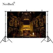 NeoBack виниловые обои с изображением каменной стены библиотеки детские, для малышей Дети фотографии фоны студия в помещении фон для фотосъемки на день рождения баннер