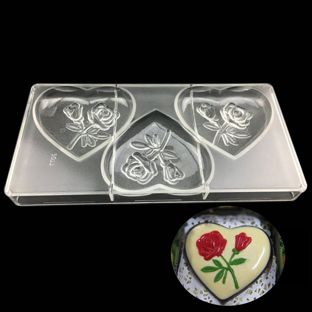 candy molds personalized large heart baking mold polycarbonate chocolate moulds plastic molde chocolate