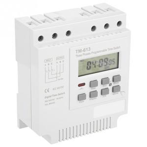 Image 1 - TM 163 programlanabilir zaman rölesi 3 fazlı zaman anahtarı 380V dijital mikrobilgisayar kontrolü zaman rölesi su pompası zamanlayıcı anahtarı beyaz