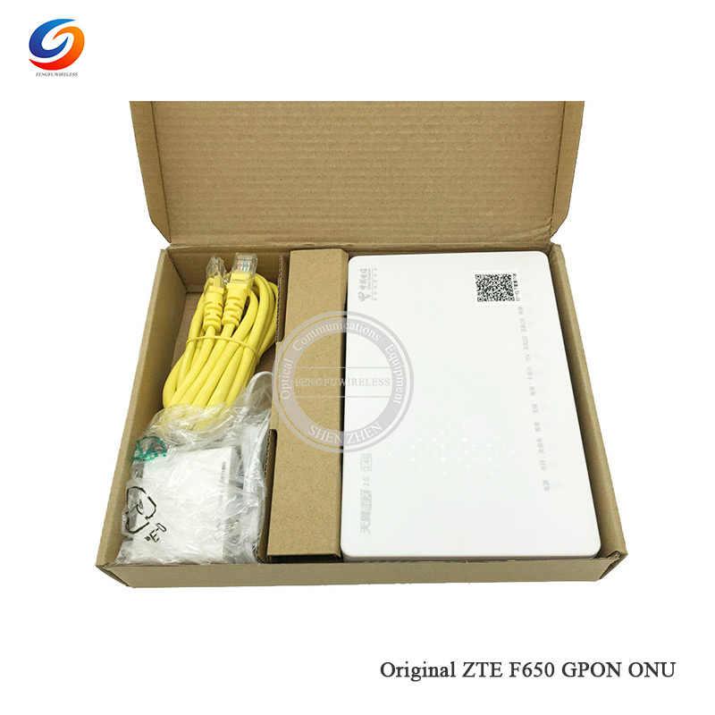Лучшая цена zte F650 1GE + 3FE + 1 кастрюли + USB + WI-FI 2,4G Внутренняя антенна GPON ONT ОНУ модем-маршрутизатор Английский firewire