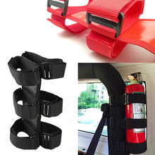 Fire-Extinguisher Auto Fixed Holder Car Styling Car Roll Bar For Car Interior Safety Nylon Strap For Jeep-Wrangler TJ YJ JK CJ speedwow car styling 4pcs set car trunk receive store content bag storage network fixed fire extinguisher magic strip fixed belt