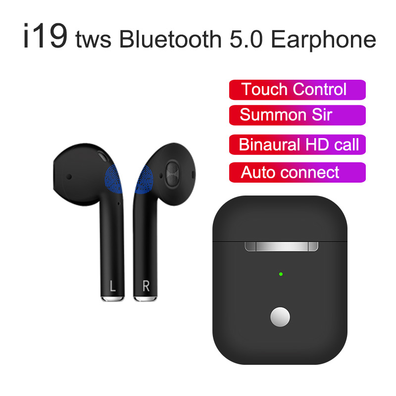 e56bb4bf4fd 2019 New Pop up i19 tws 1:1 mini wireless earphones Bluetooth 5.0 headset  PK W1 chip i10 tws i12 i14 i16 i11 i30 i60 pk LK TE9