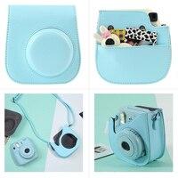 DOITOP Album Self portrait Mirror Case Cover Skin Shell Bag Pouch Accessories Set Kit for Polaroid Fujifilm Instax Mini 8/8+/9