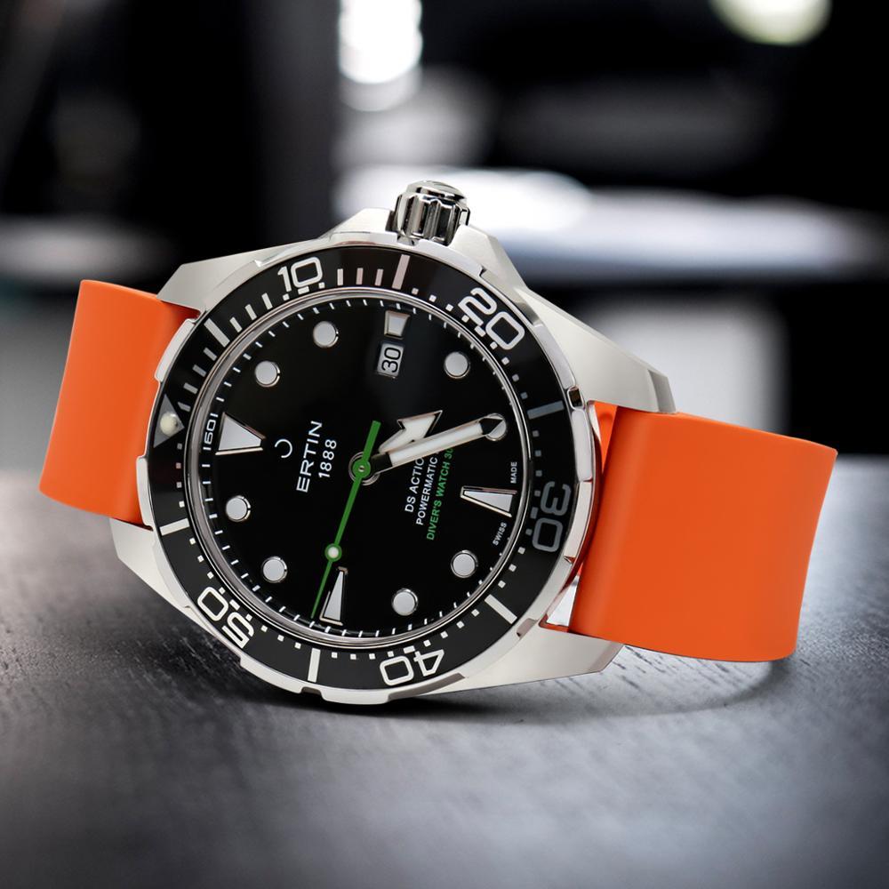 MAIKES Correas de reloj de fluororubber de calidad 20 mm 22 mm 24 mm - Accesorios para relojes - foto 5