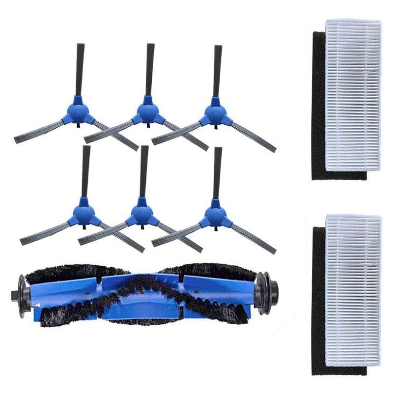 Сменный комплект совместимый для Eufy Robovac 11 S Robovac 30 Robovac 30C Robovac 15C 6x боковые щетки + 2x фильтры + 1x Rolling B