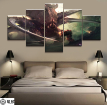 Home Decor Modular Canvas Picture 5 Piece Kerrigan StarCraft Game Painting Poster Wall For Art Wholesale