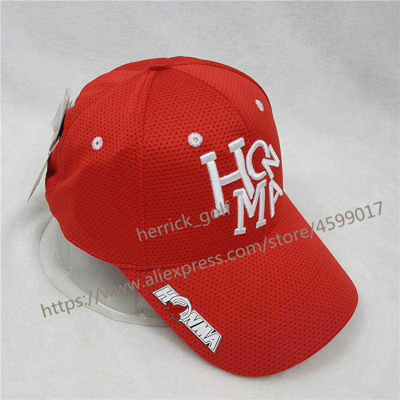 4664f96cff6 New Men s and Women s HONMA Golf Hat Red Sports Baseball Cap Outdoor Hat  New Sun Visor Sports Cap Free Shipping-in Golf Caps from Sports    Entertainment on ...