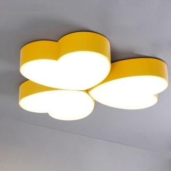 1PC Children heart-shaped LED Ceiling Lights bedroom children's cartoon amusement park kindergarten classroom lighting lamp