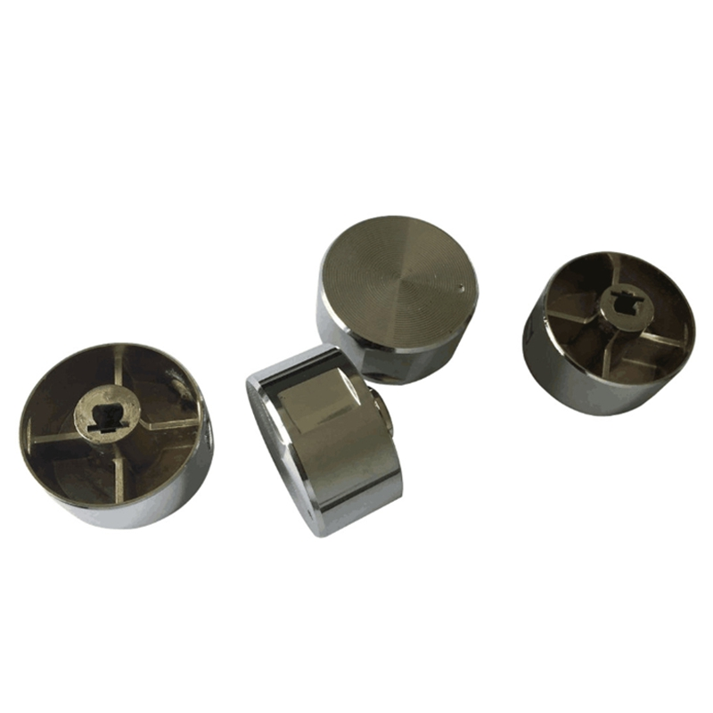 5Pcs Rotary Switch Gas Stove Parts Gas Stove Knob Zinc Alloy Round Knob With Chrome Plating For Gas Stove