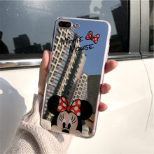 4fd1174e5e4 Espejo estuche para teléfono suave para iPhone X Xs X Max 6,5 Xr 8 7 5 6 SE  5S 6 6 Plus sPlus iPhone 7 8 Plus Mickey Minnie .