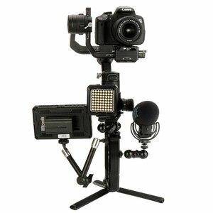 Image 4 - Top Deals Voor Dji Osmo Mobiele 2 Ronin S Handvat Mount Gimbal L Beugel Transmount Mini Dual Grip Voor Monitor led Licht M