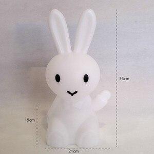 Image 2 - 36 ซม.การ์ตูนกระต่ายกระต่ายกระต่ายโคมไฟLed Night Lightสำหรับเด็กของขวัญห้องนั่งเล่นข้างเตียงโต๊ะDimmableเด็กLight