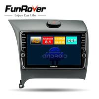Funrover Octa core android 8.1 2 din car dvd For Kia K3 Cerato Forte 2012 2016 car radio multimedia player gps navigation stereo