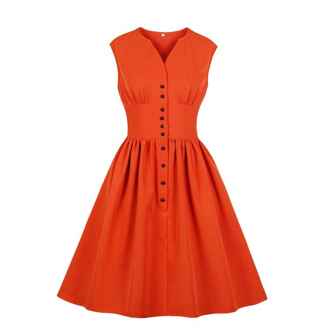 Sisjuly Women Plus Size Vintage Dress Elegant Style Sweet Casual A Line Summer Stylish Pleated Sleeveless Midi Retro Dresses