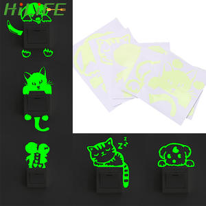 Sticker Decoration Luminous-Switch Fluorescent Glow-In-The-Dark HILIFE 1pc Cartoon