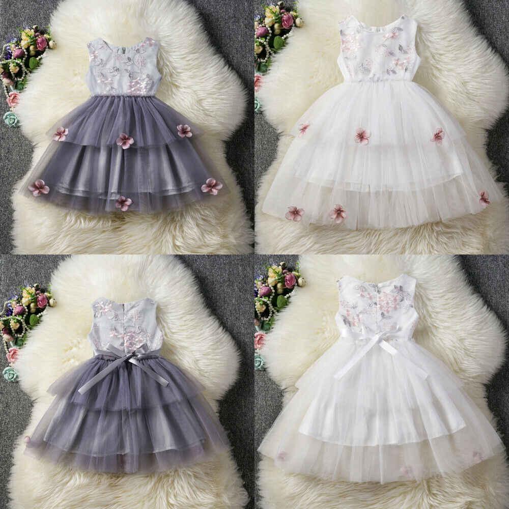 Emmaaby/модное милое платье-пачка для маленьких девочек бальное платье принцессы из тюля с цветочным рисунком, праздничное платье, сарафан