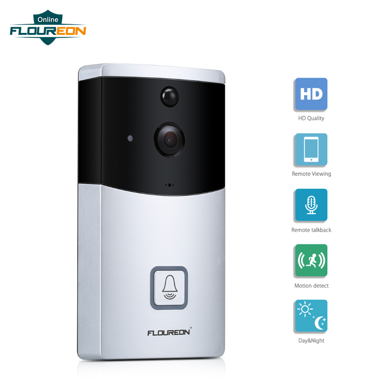 2 4GHz WiFi Smart Video Doorbell 720P HD Security Video Intercom Night Vision PIR Motion Detection