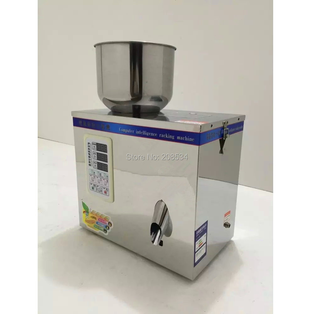 Купить с кэшбэком Eco-worthy Intelligent packing machine dispensing machines 1-25g Weighing and Filling Machine for Powder Tea Seed Bean 220V 50HZ