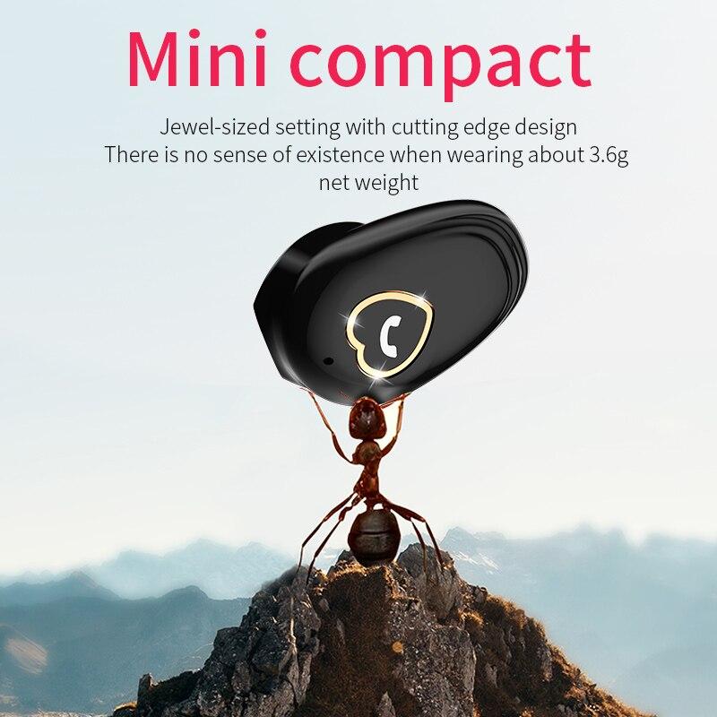 KEBIDU Wireless Bluetooth4.2 Earphone Sport Mini Earbud Stereo Earpiece Headset Sweet Love Button Earphones For Iphone Samsung