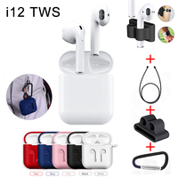 i12 TWS Bluetooth 5.0 Wireless Touch Control Earphone+Cover Case Kits Earbuds Charging Case for iPhone Android Phone Anti lost