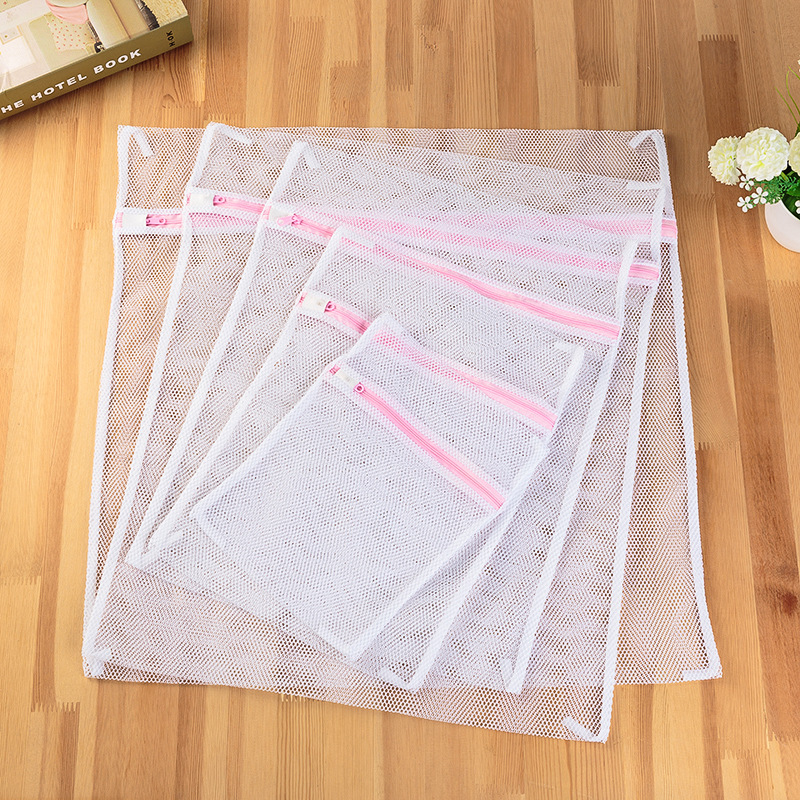 5PCS/SET White Coarse Mesh Laundry Bags For Washing Machines Lingerie Laundry Wash Bags Modern PET+PE Polyester Laundry Bag