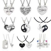 I Love You, лучшие друзья, пара, ожерелье, ювелирное изделие, головоломка, BFF, замок, Тай Чи, сердце, подвески, ожерелье s для женщин, мужчин, подарок, колье