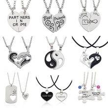 81a62025f83f Te amo mejor amigos par joyería rompecabezas regalo llave Tai Chi corazón  colgantes collares para Mujeres Hombres de Navidad reg.