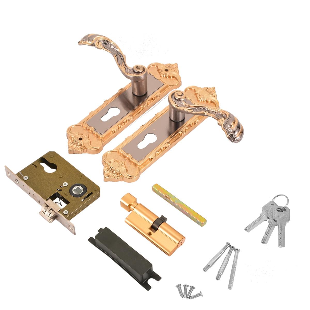 Buy 2pcs antique door locks security - Home hardware exterior door handles ...
