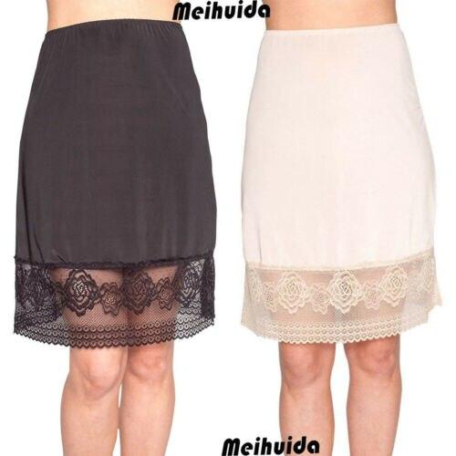 2019 Women's Waist Intimate Half Slip Lady Under Skirt Petticoat Half Slips Skirt