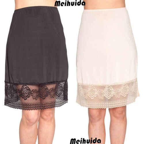 """Half Slip Waist Slips Ladies 23/"""" Natural Underskirt Size 10 12 14 16 18 20 22"""