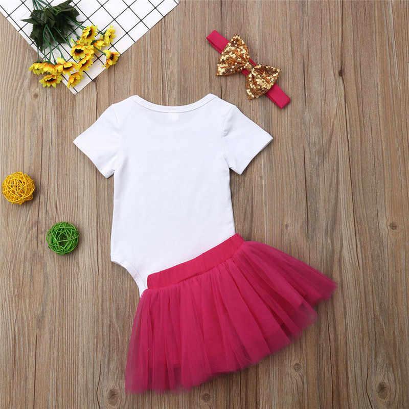 fdc5d6c3c5d ... 0-18M Newborn Kdis Baby Girls Cute Clothes set Funny Letter Romper Tutu  Skirt Set ...