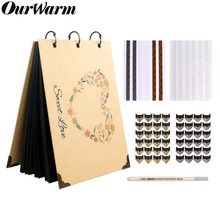 OurWarm 60 Pages DIY Wedding Photo Album Gifts Travel Memory Book Album Scrapbook(China)