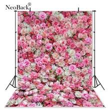 NeoBack فينيل حفلة عيد الحب زهور الورد جدار الزفاف الديكور مجلس صور خلفية مسحور استوديو التصوير الخلفيات