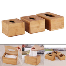 1 Pcs Tissue Box Bamboo Napkin Case Holder Cover Container for Car Home Office Hot Sale
