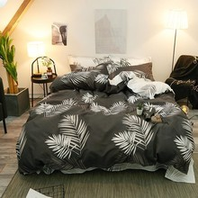 Bed Sets Simply Life Bedding Long Leafs Duvet Cover Nature Printing Linings Comforter Full Sheet Queen Twin Size