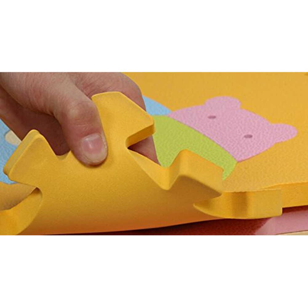 9 шт. милый животный коврик из вспененного этилвинилацетата Напольный пазл для ползания и игр Игра для маленьких детей детский коврик для малышей (случайный цвет)