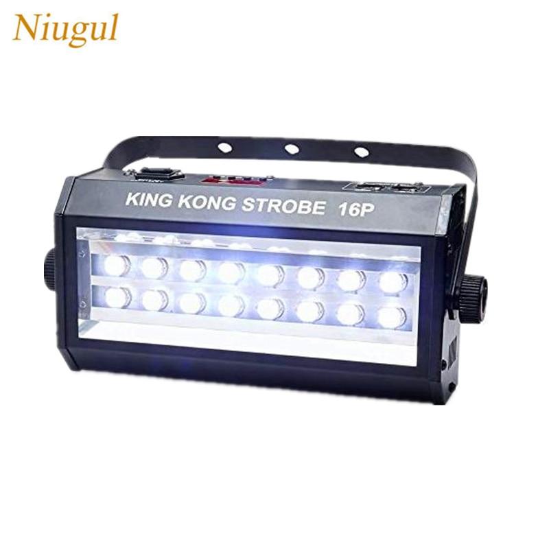 400W High Power Super Bright DMX512 Sound Control 16P LED Stroboscope 400W Strobe Light/Party Disco DJ Bar Lamp LED Flash Lights