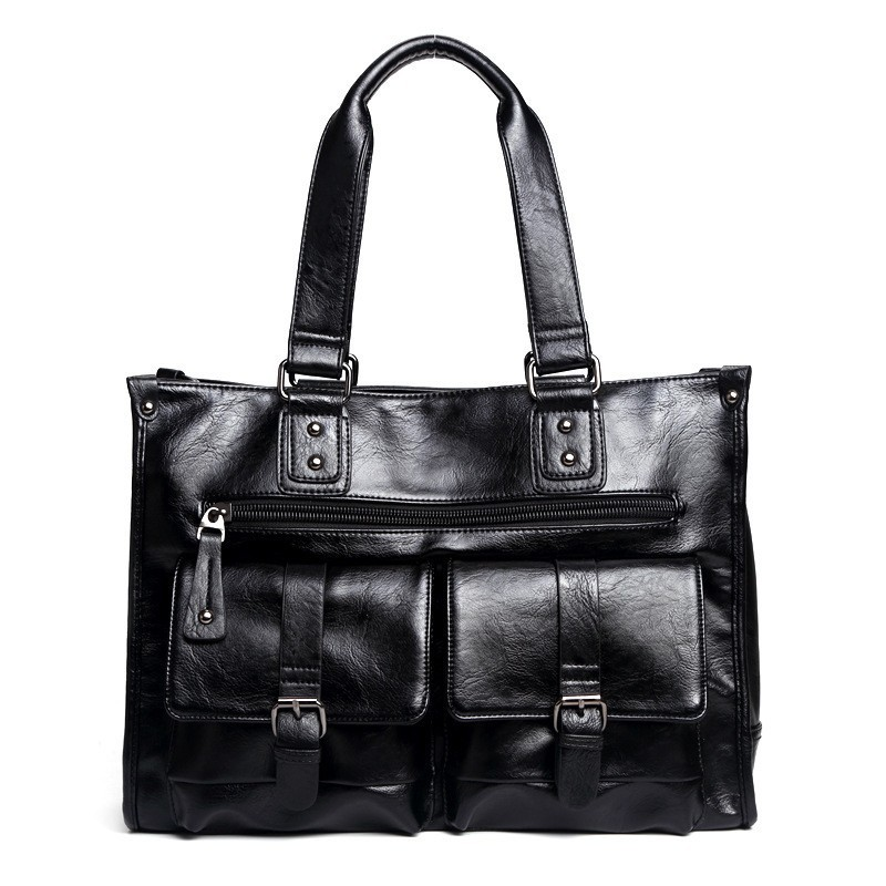 CBJSHO Quality Fashion Messenger Bag Men Leather Laptop Briefcases For Men Business Handbag Luxury Men's Casual Shoulder Bags