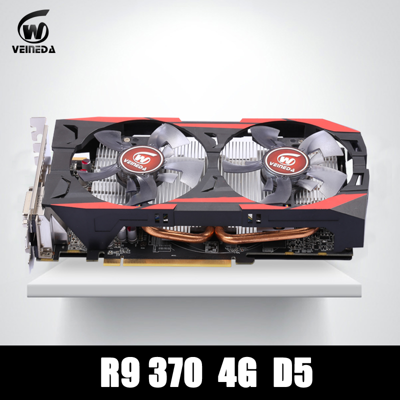 video card 100% original R9 370 4GB 256Bit GDDR5 graphics card for ATI Radeon Games video card for 71p8487 xseries 225 ati rage xl