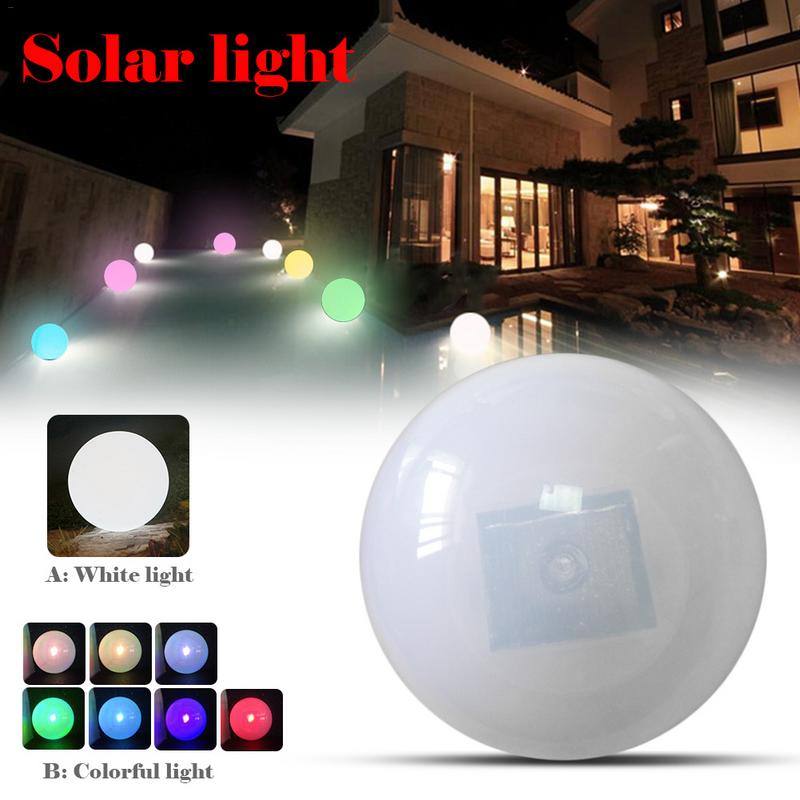 Rechargeable LED Ball Night Light Outdoor Waterproof Colorful RGB Floating Swimming Pool Bar Table Ball Lamp Remote Control