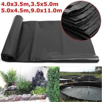 4 Â�イズ黒魚池ライナー布家庭菜園プール強化 HDPE Ã�ビー造園プール池防水ライナー布新