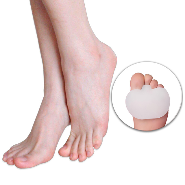 1 Pair Soft Foot Half Insole Toes Gel Pads Separators Straightener Claw Hammer Brand New